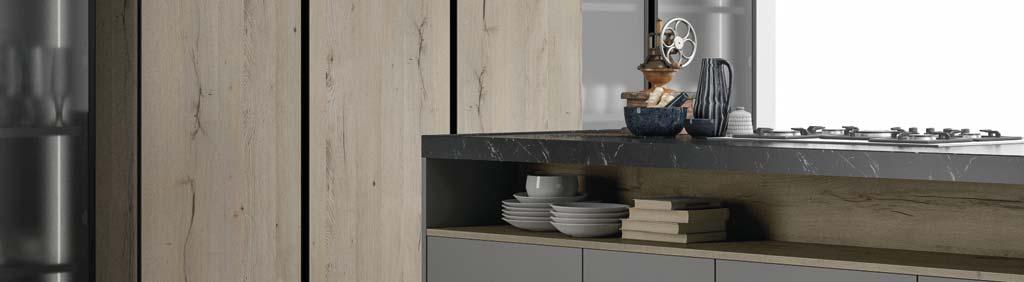 Cucina componibile ante in vetro cucina con telaio in - Rivestire ante cucina ...