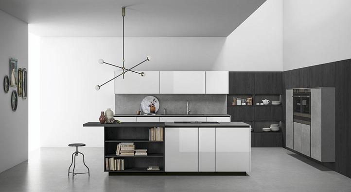 Ante Cucina In Vetro.Cucina Con Telaio In Alluminio Cucina Componibile Ante In Vetro