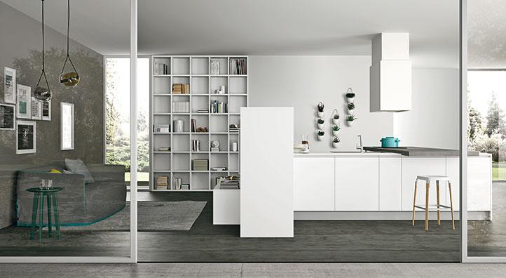 Cucina lineare moderna, Cucina ad angolo