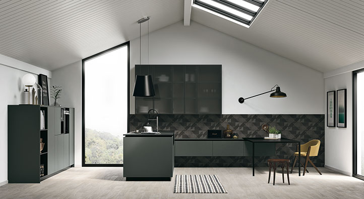 Cucina modulare di qualit cucina con pareti attrezzate for Divano x cucina