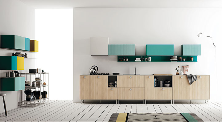 Top cucine in Fenix NTM, Cucina componibile moderna