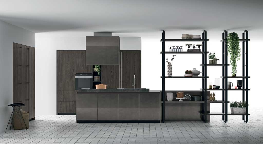 Cucina in stile industriale - Ante per cucine componibili ...