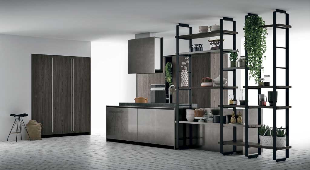 Cucina in stile industriale for Progettare un salone