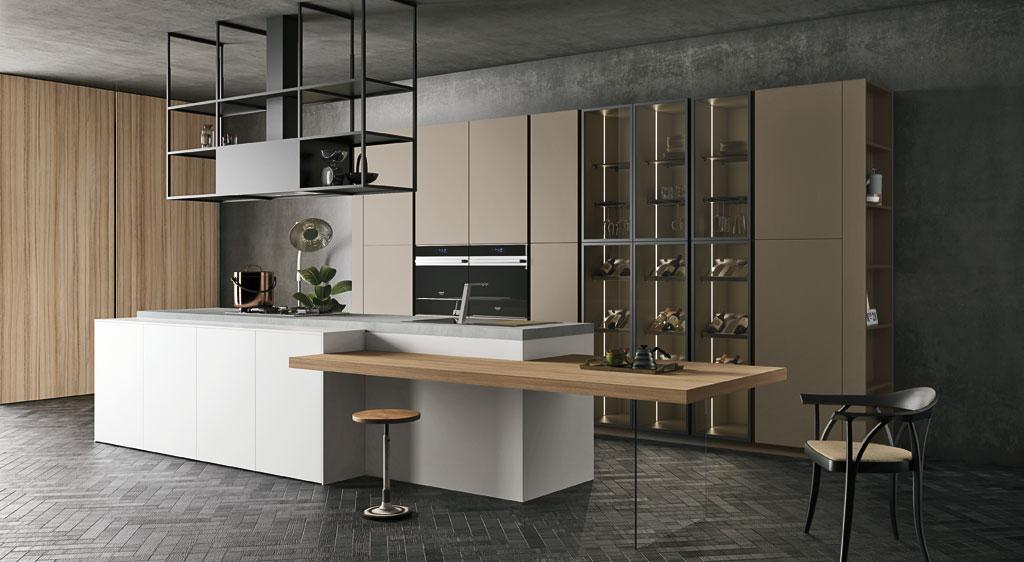 Cucina componibile moderna cucina di design - Altezza top cucina ...