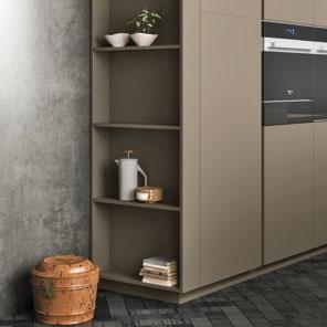 Cucina componibile moderna cucina di design - Cappa cucina laterale ...