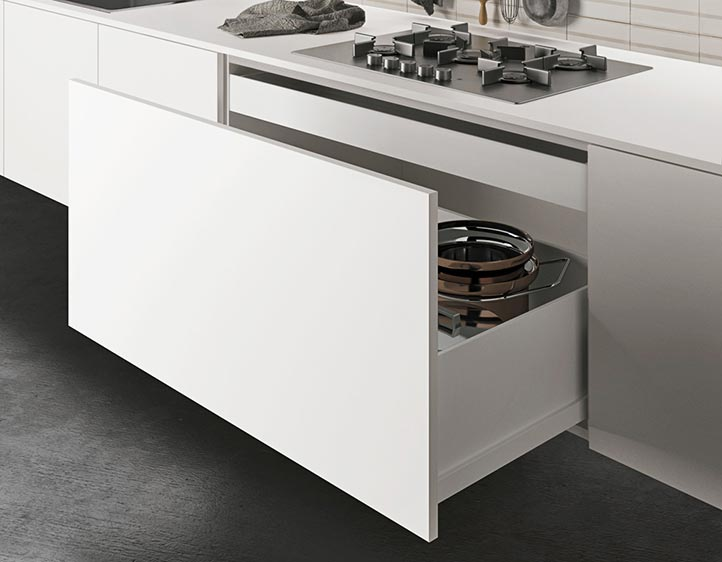 Awesome cassetti scorrevoli cucina contemporary home for Mensole luminose ikea